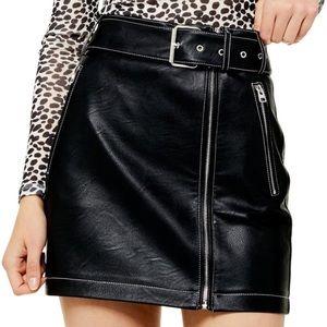 🖤Topshop faux leather mini skirt 🖤